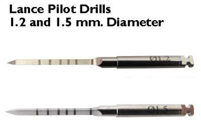 2 Lance Pilot Drills Dental  Implants